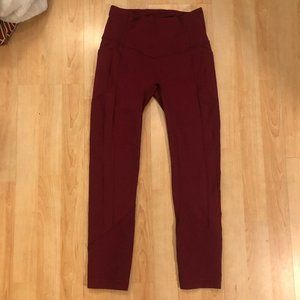 "lululemon athletica Pants & Jumpsuits - All The Right Places Crop II 23"" in Ruby"